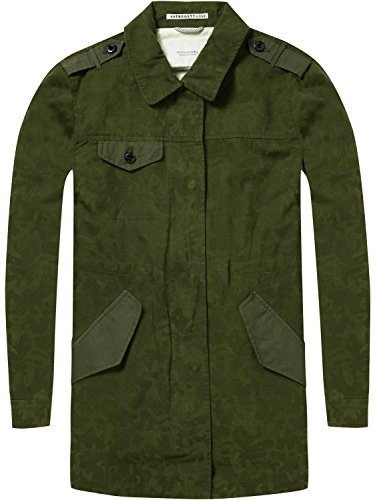 Scotch & Soda Maison Military Jacket in Special Camouflage Print, Blouson Femme, Vert Green 65, Small