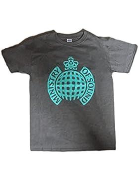 MINISTERIO DE SONIDO - azul claro Classic Logo - Camiseta Oficial Hombre