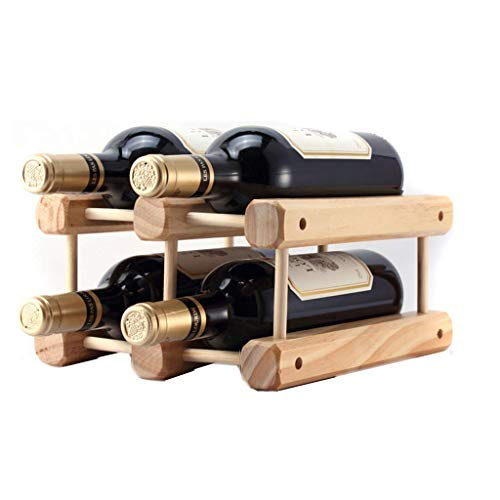 MTX Ltd Weinregal, Weinglasregal Massivholz Montiert Stand-Alone-Weinhalter, Weinglasregal Home Innendekoration Korrosionsschutz Mehltau-Weinhalter, Weinglasregal Sicherer und Stabiler Weinhalter Stand-alone-rack