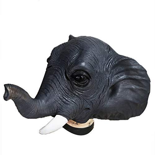 Cabeza De Máscara De Elefante Cubierta De Cabeza De Parodia Máscara De Animal Divertido De Halloween