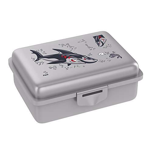Fizzii Lunchbox (Inkl. Obst-/ Gemüsefach, schadstofffrei,\n spülmaschinenfest, Motiv: Hai)