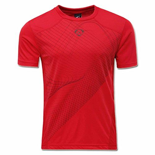 Men's Designer Casual Slim Fit Top Tee Shirt red