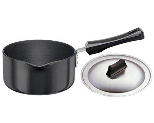 Hawkins HA Ezee-Pour Aluminium Saucepan with Lid - 1 LTR - Black