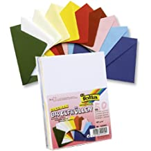 Folia 150599 - Sobres (pack de 50 unidades, C6, con recubrimiento de goma) varios colores