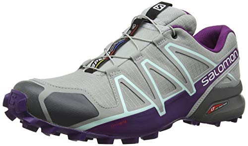 Salomon Speedcross 4 W, Scarpe da Trail Running Donna, Grigio (Quarry/Acai/Fair Aqua), 38 EU