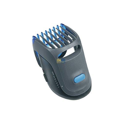 Produktbild Braun 81327781 ORIGINAL Rasieraufsatz Bart Aufsteckkamm Grau/Blau Einstellbar 1-11 mm Click&Lock Funktion z.T. CruZer6 BT7050 BT5090 Typ 5417 Haarschneidemaschine Rasierer Trimmer