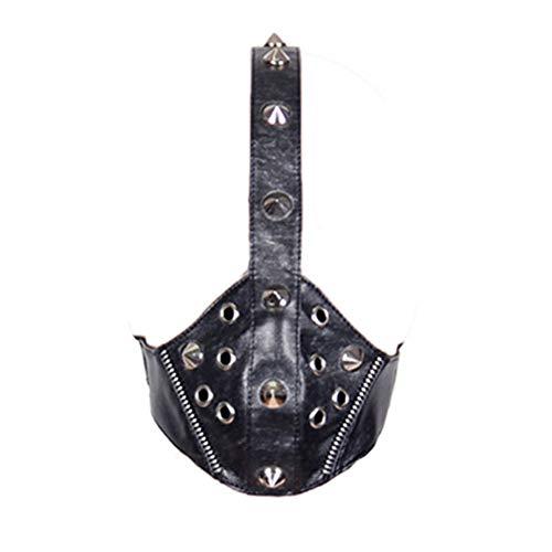 LZX Steampunk Gothic Maske Weibliche Männer Maske Cool Personality Punk Nieten Anti-Nebel Atmungsaktive Sport-Reitmaske (Schwarz)