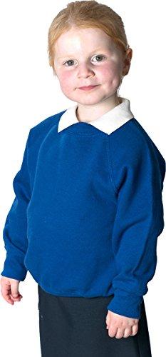 NEW solo uniforme Kids Felpa girocollo in pile stile-Maglione da bambino Maroon 2-3 Anni