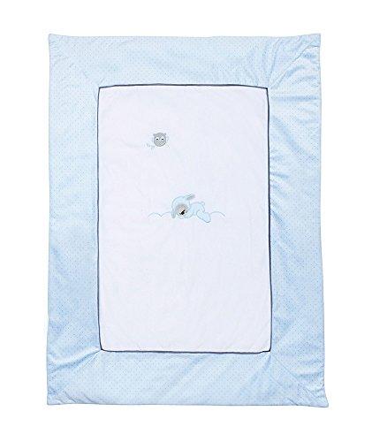 Nattou Couverture Bébé, Garçon, 100 x 75 cm, bleu - Sam et Toby