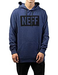 Neff Men's New World Pullover Hoodie Navy Heather Blue