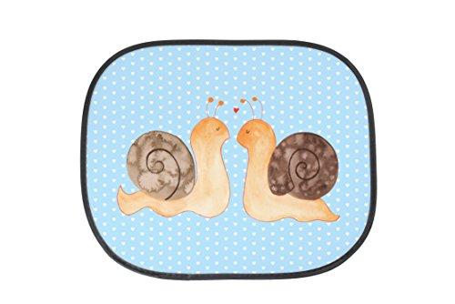 Preisvergleich Produktbild Mr. & Mrs. Panda Auto Sonnenschutz Schnecken Liebe - 100% handmade in Norddeutschland - ##MOTIVES_KEYWORDS## Sonnenschutz, Auto Sonnenschutz, Sonnenblende, Fenster, PKW, Kinder, Familie, Geschenk, Urlaub, Rücksitz, Sonne ##MOTIVES_KEYWORDS##