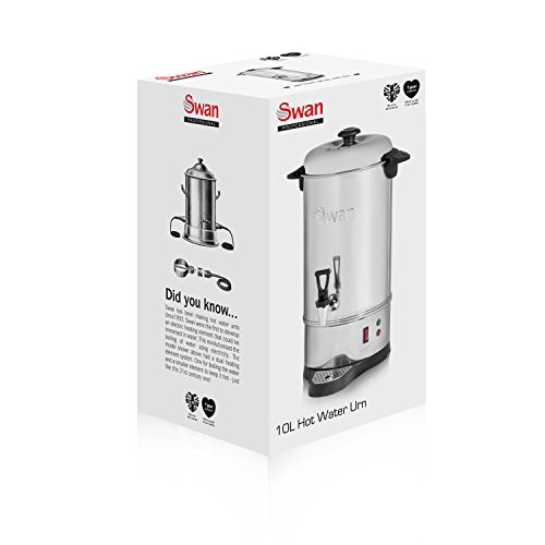 41DNlSBaDwL. SS500  - Swan 10 Litre (40 cup) Commercial Stainless Steel Catering Urn / Water Boiler