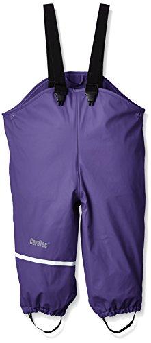 *CareTec Kinder Wasserdichte Regenlatzhose mit Fleecefutter (Verschiedene Farben), Violett (Purple 633), 140*
