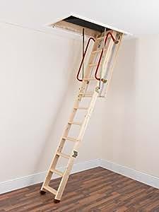 TB Davies EnviroFold Wooden Loft Ladders - Inc. 26mm Insulated Hatch | Solid Spruce Treads | EN 14975 1.33 W/m2oC | Max Floor2Ceiling 2.82m (9.25ft)