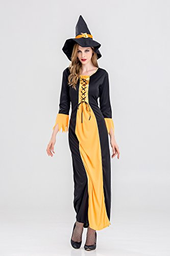 EDAY Hexe Geist Cosplay Custome Halloween Cosplay Party Show langes Rock Kleid für Erwachsene Damen (2017 Halloween Kostüme Popular)