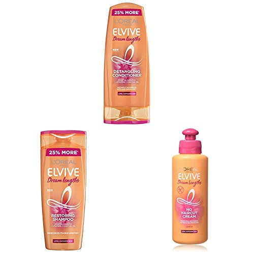 L'Oreal Elvive Dream Lengths Long Hair Shampoo & Conditioner with Serum Set 500ml