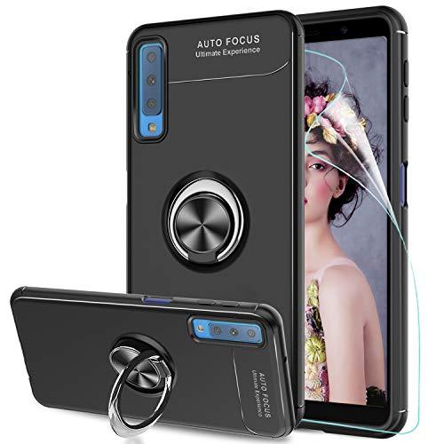 983be80bfc LeYi Ley Compatible con Funda Samsung Galaxy A7 2018 con Anillo Soporte