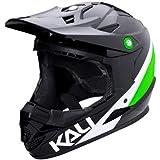 Kali Protectives 0210618137 Casque de BMX intégral Mixte Adulte, Noir/Lime, Taille : L