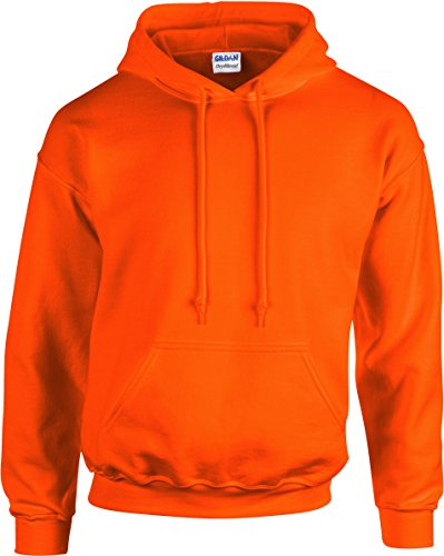 Gildan Heavyweight DryBlend Unisex Kapuzenpullover / Hoodie / Kapuzensweater S,Orange