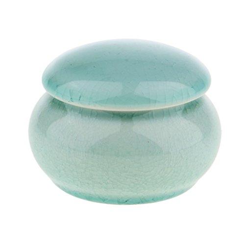Baoblaze Chinesische Keramik Zuckerdose Kaffeedose Teedose Porzellan Dose mit Deckel, Pastellgrün