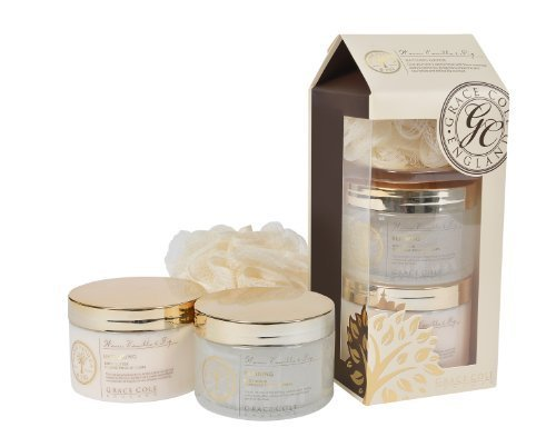 Grace Cole Bathing Heaven Body Butter 300ml/ Body Scrub 300ml/ Body Ball 30g by Grace Cole (English Manual)