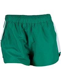 K-Swiss 66 - Pantalones cortos para mujer, color verde / blanco, talla M
