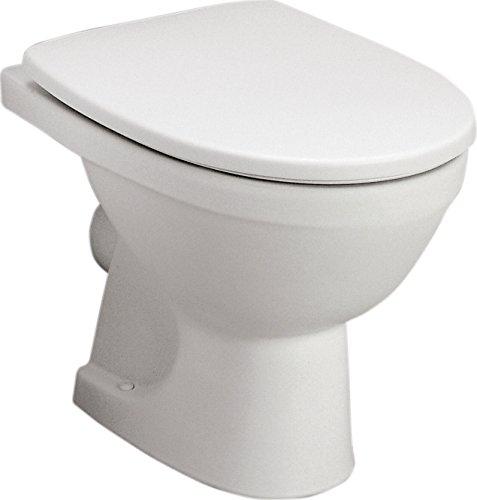 Stand-WC-Set Lucanto | Weiß | Inklusive WC-Sitz | Tiefspüler | Abgang waagerecht