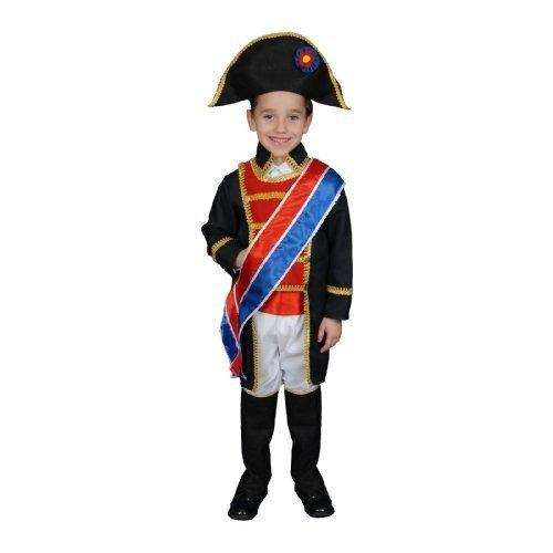 Set Napoleon Kostüm - Dress up America Historical Realistic Looking Napoleon Costume Set (M) by Dress up America
