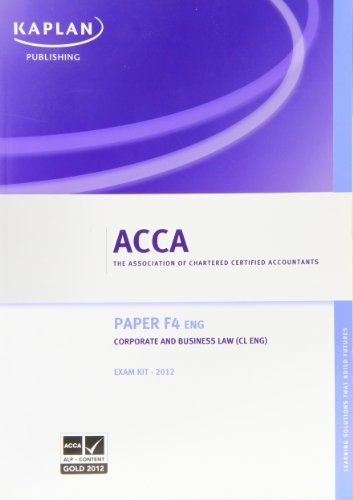 F4 Corporate and Business Law CL (UK)