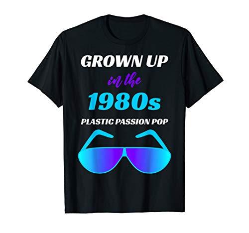 1980s Pop Deko T-Shirt Sonnenbrille 80s 80er Achtziger Jahre