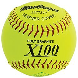 Slow Pitch Leather Softball, 12-inch (One Dozen) by MacGregor ()