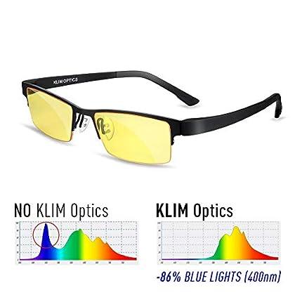 KLIM Optics - Gafas para Bloquear la Luz Azul -...