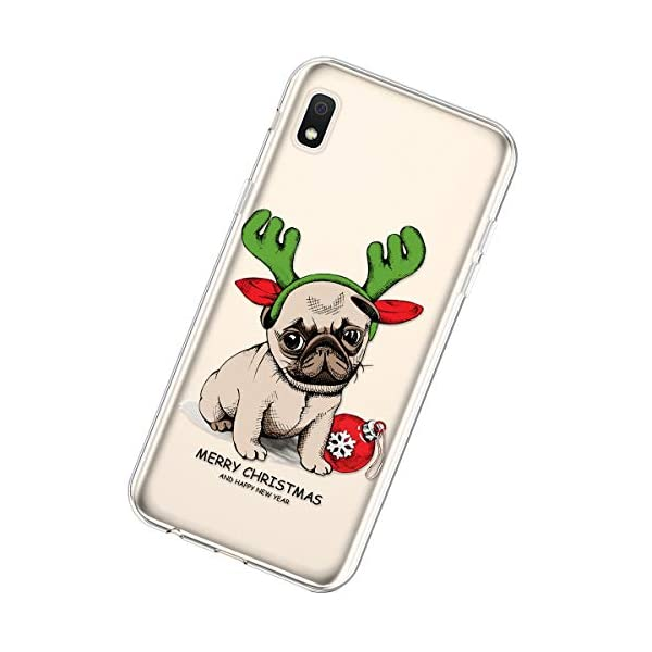 Uposao Compatible with Samsung Galaxy A10e Cover Christmas Xmas Pattern Girls Cute Crystal Clear TPU Silicone Rubber Case Transparent Soft Bumper Gel Shockproof Case,Dog Uposao Compatible Model: Samsung Galaxy A10e Package:1 x Bumper Case Cover,1 x Black Stylus Touch Pen Soft Silicone Phone Cases Christmas Decorations Pattern Ultra Slim Fit Thin Clear Transparent Back Cover Flexible Rubber Gel Protective Shell 4