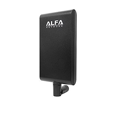 Alfa Network APA-M25 dual band 2.4GHz/5GHz 8 / 10dBi high gain directional indoor panel antenna with RP-SMA connector (compare to Asus