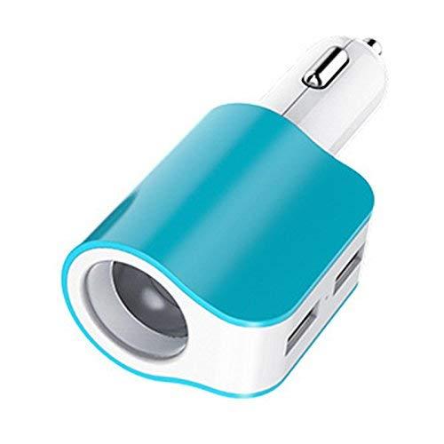 LLDE Multifunktions-Zigarettenanzuender Dual USB eins mit Zwei Kfz-Ladegeraet Mobiles Ladegeraet intelligente DREI EIN Auto-Ladegeraet (Mobile Htc Deckt)
