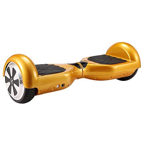 """Megawheels Hoverboard Autobilanciato Balance Scooter Skateboard 6.5\"""" Monopattino Elettrico con Bluetooth e LED (Oro)"""