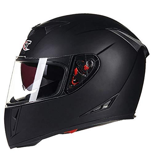MAKE FINE Motocross Helm Doppellinsen Lokomotive Offen Integralhelm Multifunktions Vier Jahreszeiten Unisex Helm,1,XXL