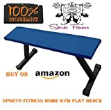 SPORTO FITNESS™ Flat Bench Workout Utility Bench