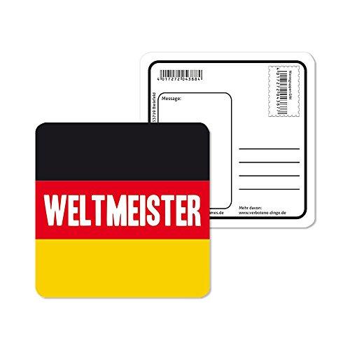 Preis am Stiel 1 Pack. Bierdeckel Fußball ''Weltmeister'' | Fanartikel | Public Viewing | Fanartikel Deutschland | Fahnen & Flaggen | WM Fußball | Fahnengirlande WM