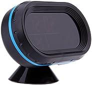 Docoolor Digital Auto Car Thermometer Voltmeter Voltage Meter Noctilucous Clock Freeze Alert + Batteries