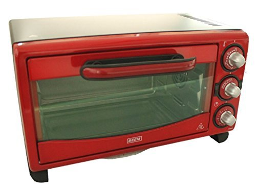 Beem startherm Mini Oven 18 L Red with Timer/Adjustable Heat 4 Functions 1380W Circulating Air Convection Oven 45 x 33 cm wide 5,5kg Upper & Lower Heating Pizza Oven