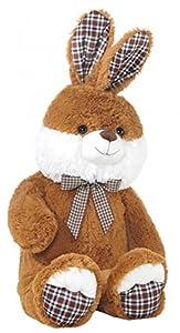 Heunec 830769Peluche-Conejo en Cuadros de Style, Color marrón