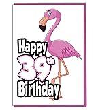 Pink Flamingo 39. Geburtstag–Damen–Tochter–Geburtstagskarte für Enkelin–Schwester–Freund