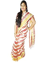 fa563f529a3457 VFCollections - Banarasi Cotton Silk Pattu Saree - Lines All-Over With Blouse  Piece For