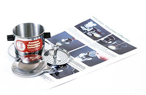 Thang Long Vietnamesischer Kaffeefilter, Extra klein 118ml, perfekt für Espresso, papierlos