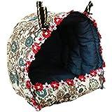 WINOMO Kleine Tiere Hängematte aufhängen Bett kuscheln Höhle Hütte für Ratten / Hamster / Mäuse / Papageien