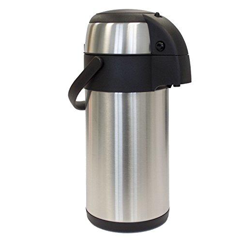 Oxid7® Pumpkanne Thermoskanne Isolierkanne Airpot - 5 Liter - doppelwandiger Getränkespender - Hält Glühwein und andere Getränke bis zu 24 Stunden warm oder kalt - 1,9, 3 oder 5 L