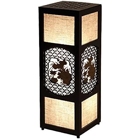 YUENLONG Nuevo estilo chino lámpara de pie moderna lámpara antigua lámpara de cabecera sala dormitorio comedor estudio clásico Hotel pasillo mesa madera maciza lámpara 66 cm * ancho