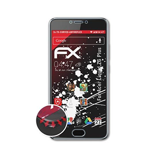 atFolix Schutzfolie passend für Acer Liquid Z6 Plus Folie, entspiegelnde & Flexible FX Bildschirmschutzfolie (3X)