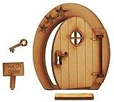 Polo norte apertura puerta de hadas. Festive tridimensional apertura puerta de hadas de madera para montar kit de manualidades con puerta Mat, signo y clave